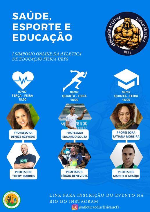 I SIMPÓSIO ONLINE DA ATLÉTICA DE EDUCAÇÃO FÍSICA DA UEFS